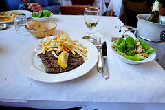 I ate this: steak-frites and salad