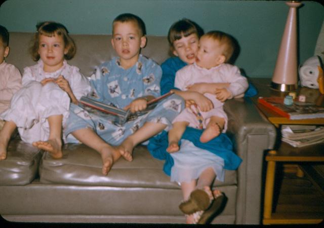 Lisa, John, Nancy and Mary Tarpley, about 1956