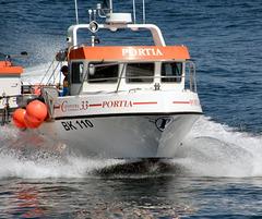 """Portia"": Farne Islands ferry near Seahouses, UK."
