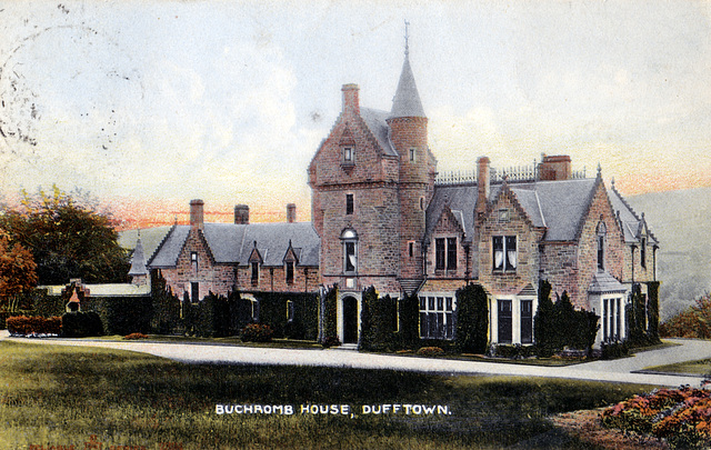 Buchromb House, Dufftown, Aberdeenshire, (Demolished c1969) - Entrance facade