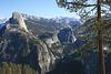 Half Dome and upper Yosemite Valley.