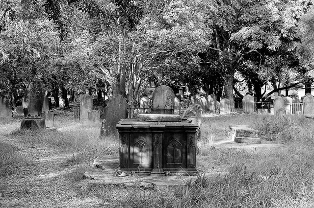 Metal tomb