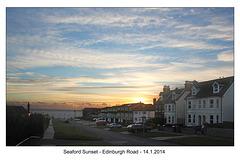 Seaford sunset -Edinburgh Road - 14.1.2014