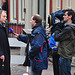 Eviction of squatters out of a building in Leiden – Mayor Lenferink interviewed by local television
