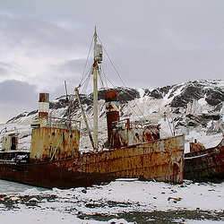 Abandoned whalers in South Georgia