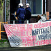 Eviction of squatters out of a building in Leiden