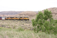 Union Pacific in Afton Canyon, Mojave Desert, California