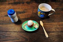Morning Egg and tea