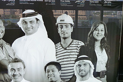 Dubai 2012 – Some of the workers who helped to build the Burj Khalifa
