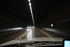 Driving through the Pfändertunnel