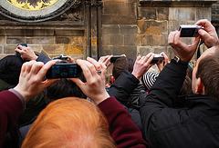 Prague Astronomical Clock Tourists 1