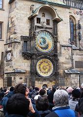 Prague Astronomical Clock Tourists 2