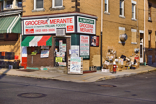 Groceria Merante – Bates Street at McKee Place, Pittsburgh, Pennsylvania