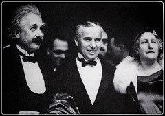 Einstein, his wife & Charlie Chaplin