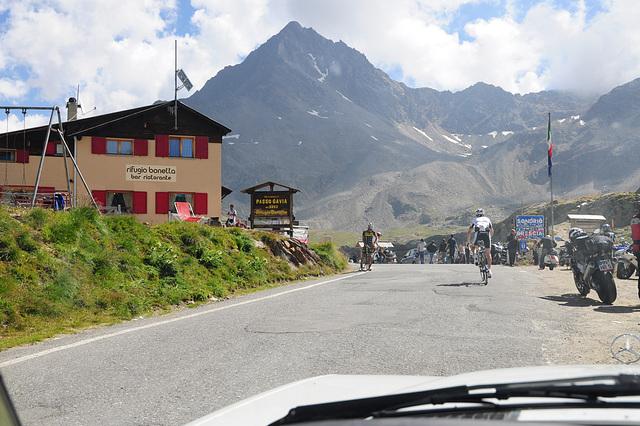 Top of the Gavia Pass at 2652 meter