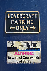 Hovercraft Parking only