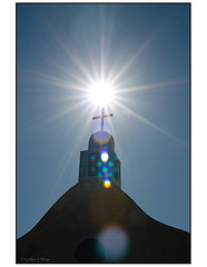 San Ysidro Church lens flare