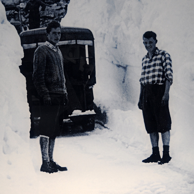 Two young men who helped with building the Timmelsjoch Hochalpenstraße