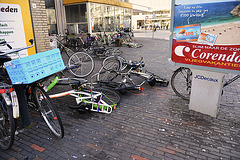 Bicycles having a lie-down
