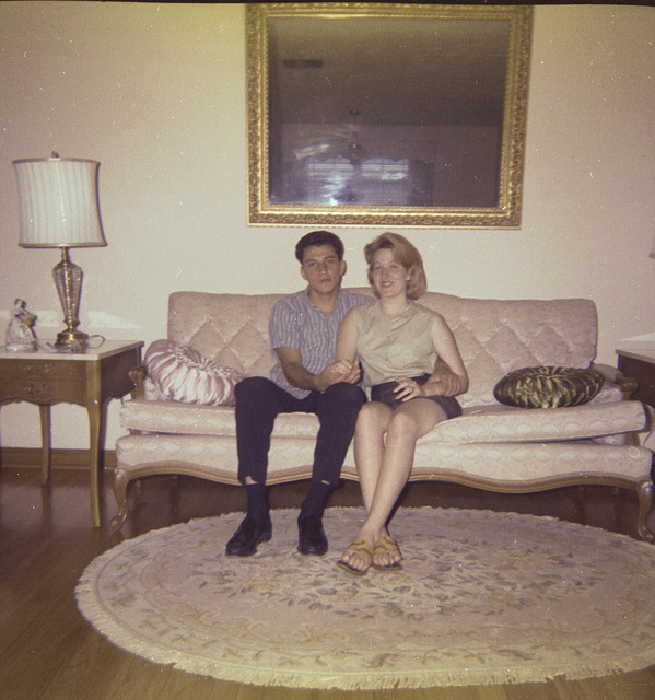 Cousin Donna and her future husband, Richard. Metarie, 1963