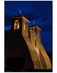St. Francis Church Belfry at Twilight - Taos, New Mexico