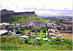 Bird's eye view of Edinburgh