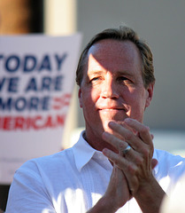 Palm Springs Mayor Steve Pougnet at Palm Springs Rally For Supreme Court Decisions (2749)