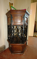 Pulpit by Barry Parker, Saint Andrew's Church, Station Road, Barrow Hill, Chesterfield, Derbyshire