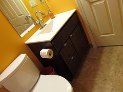 New Floor in Bathroom