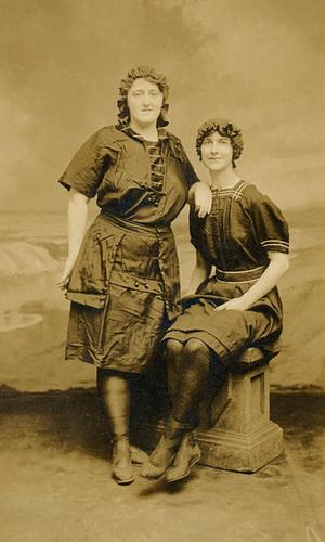 Two Woman Posing for a Boardwalk Souvenir, Atlantic City, N.J.