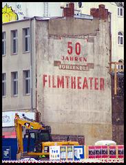 Old advertisement for a movie theater (Reeperbahn, Hamburg St. Pauli)
