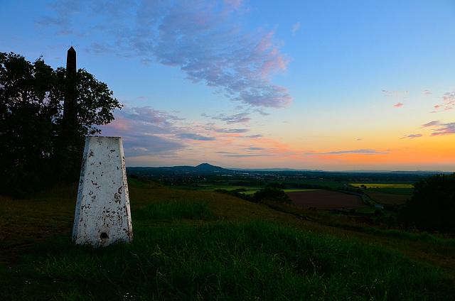 Sunset over the Wrekin