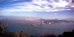 A classic view - Golden Gate from Hawk Hill, Sept. 1992 (120°)