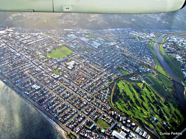 Hutt Valley from plane