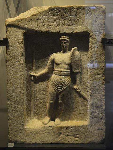 Oxford 2013 – Ashmolean Museum – Tombstone for the gladiator Martialis