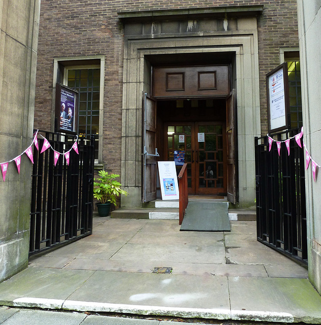 Mian entrance bedecked for the open days