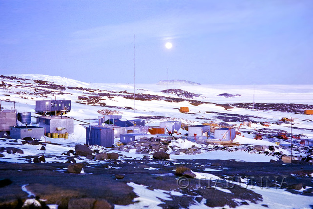 Full moon over Mawson