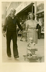 A Sailor Strolling with His Family