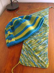Stripy Hat & Scarf