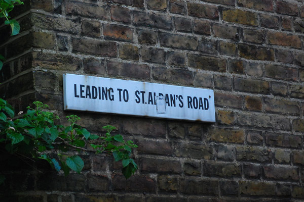 Leading to St Alban's Road