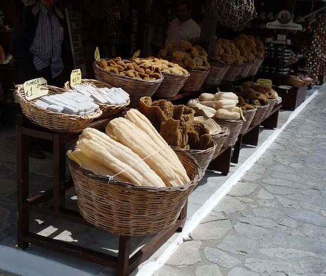 Symi- Sponge Shop in Yialos
