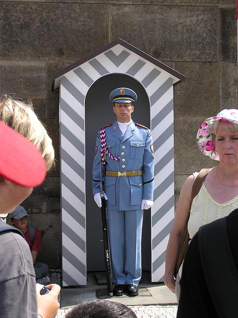 Tschechische Ehrenwache im Pragen Burg