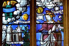 Détail de la verrière de la Vierge (XVIe S.) - Eglise de Conches-en-Ouche - Haute Normandie