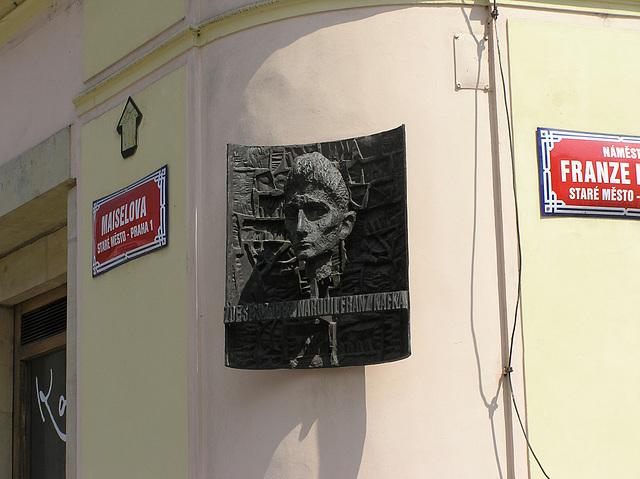 Memorialentafel für Franz Kafka