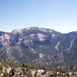 View southeast over Lee Canyon