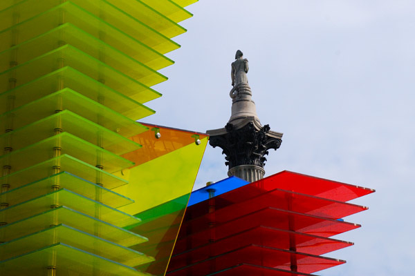 The fourth plinth and Nelson's column