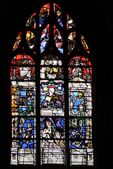 Vitrail des litanies de la Vierge (XVIe s.) - Eglise de Tillières-sur-Avre