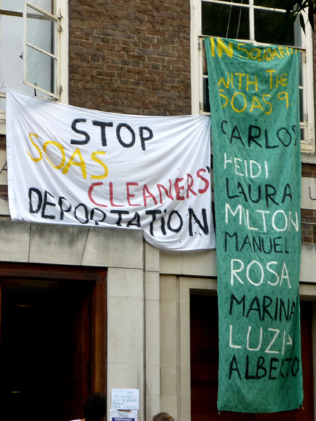 Solidarity with the SOAS 9