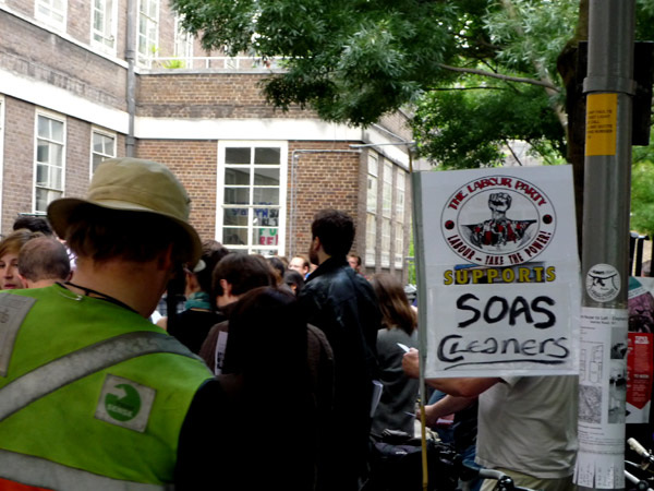 Labour supports SOAS cleaners