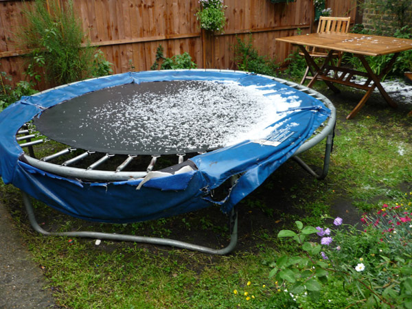 Just the weather for trampolining